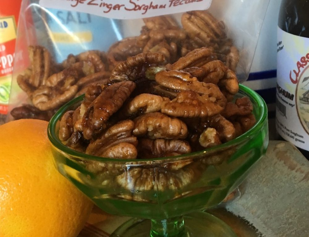 Orange Zinger Sorghum Pecans