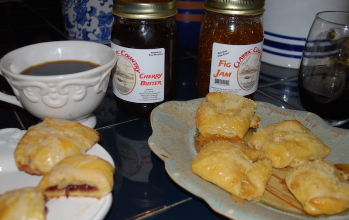 Classic Country Foods Cherry Butter pockets and Fig Jam cheese bites